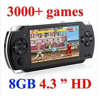HOT SELL 8GB 4.3 Inch PMP Handheld Game Player MP3 MP4 MP5 Player Video FM Camera Portable Game Console 20PCS/LOT(China (Mainland))