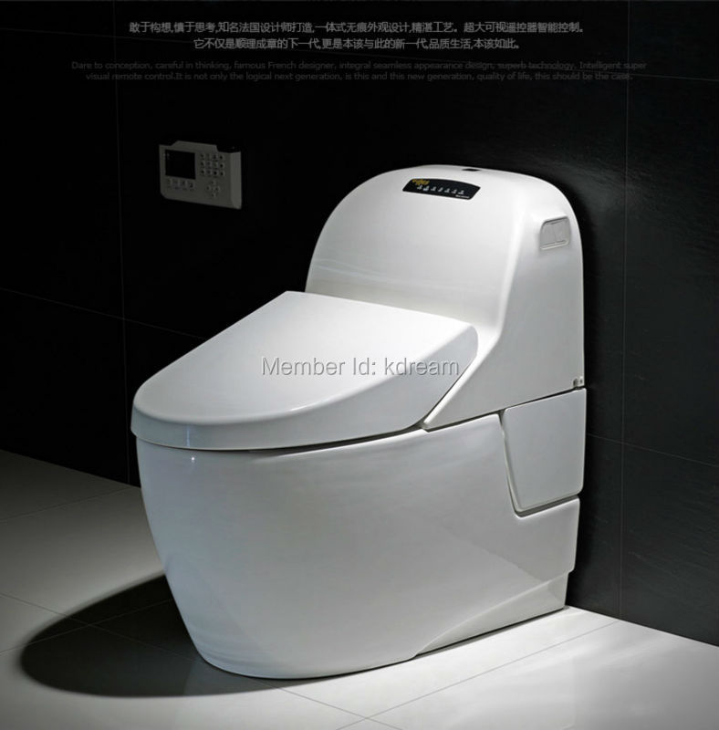 buy ceramic floor mounted ce certified electronic automatic toilet bidet kadyos sanitary wares. Black Bedroom Furniture Sets. Home Design Ideas