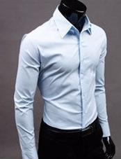Men Shirt Long Sleeve Slim Fit Manga Larga Hombre Mens Dress casual Shirt solid m xxxl