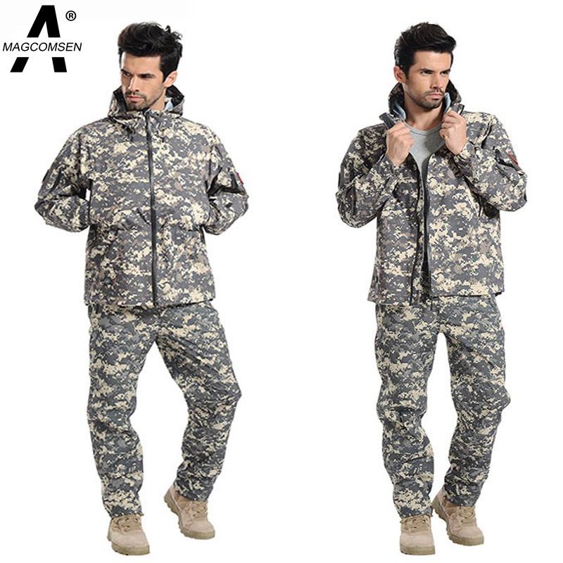 Man Tactical Jacket and Pant Outdoor Sports Climb V5.0 Military Jacket Men Waterproof Softshell US Army Clothing Set AG-PLY-09(China (Mainland))