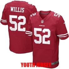 100% Stitiched san francisco 49ers Colin Kaepernick Patrick Willis Joe Montana Jerry Rice NaVorro Bowman For YOUTH KID(China (Mainland))