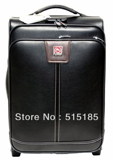 Quality Brand Dx . polo trolley luggage  leather suitcase for travel men travel bags free shupping(China (Mainland))