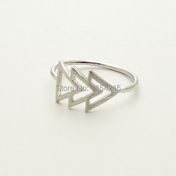 Min 1pc- Gold,silver,rose gold Triforce Ring Midi Ring EY-R108(China (Mainland))