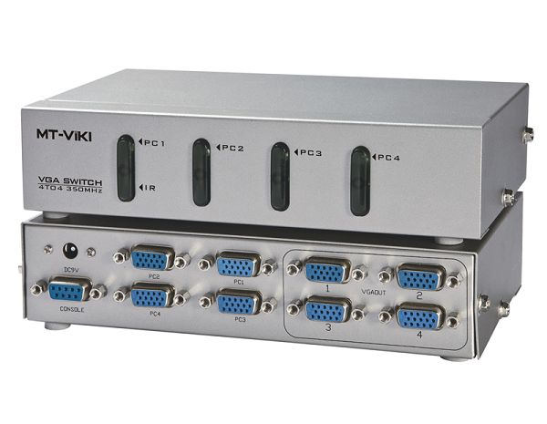 4x4 VGA KVM Matrix Switcher Four computers to share four display device 350MHz 1920x1440 RS232 IF Remote Control(China (Mainland))