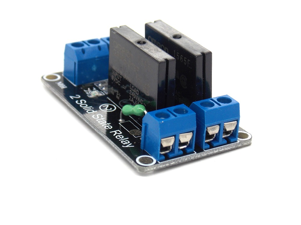 2 Channel 5V DC Relay Module Solid State Low Level OMRON SSR AVR DSP for Arduino(China (Mainland))