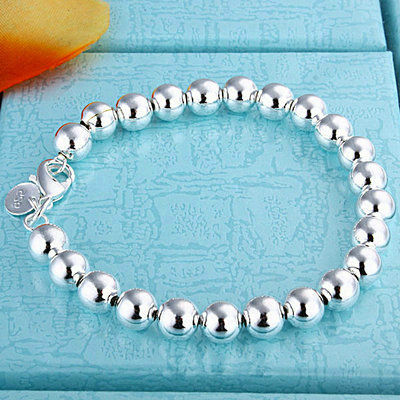 Sales promotion 925 Silver Jewelry!New Fashion 925 Sterling Silver Hollow Beads Bracelets Bangles For Women's or Men's Gift H18(China (Mainland))