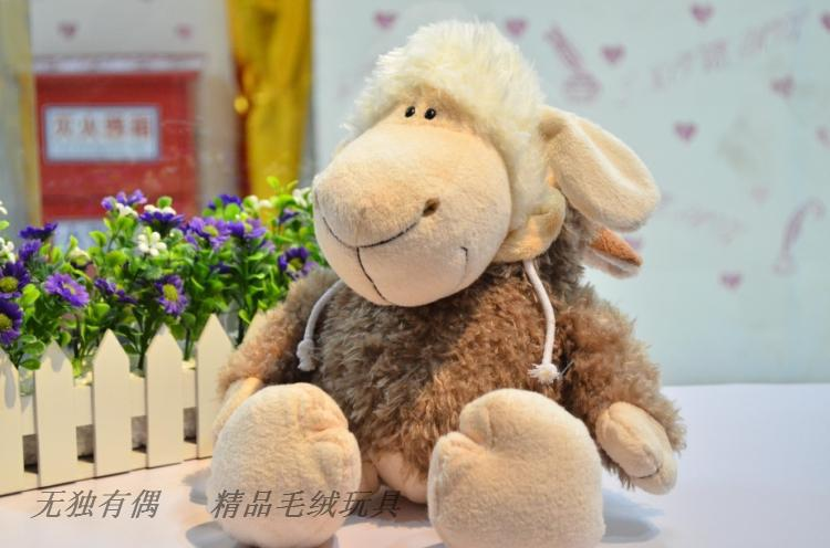 35 cm lovely sheep plush toy ,sheep with wolf skin doll birthday gift s8784(China (Mainland))