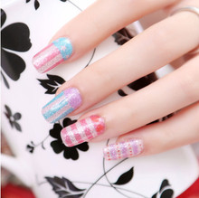 new fasion design nail art decal manicure Five nail stickers free shipping