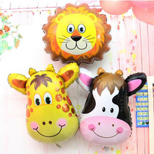Giraffe Zebra Cow Monkey Birthday Party Balloon Animal Pet Foil Balloon for Children Toys, Wedding Party Birthday Decoration(China (Mainland))
