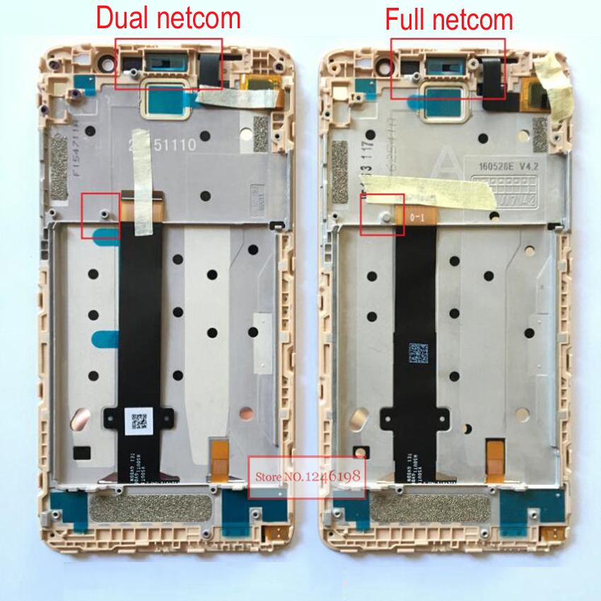 LTPro note3 LCD Display Touch Screen Digitizer Assembly +Frame For Xiaomi Redmi note3 Pro / prime hongmi note 3 Phone Parts