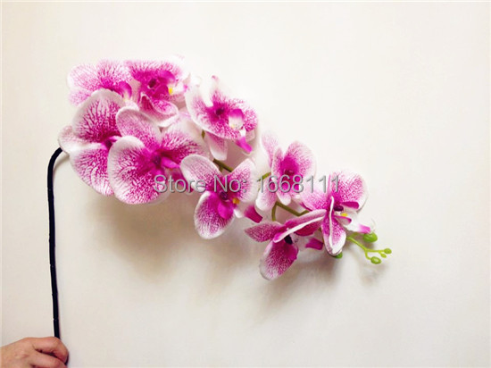 4pcs per lot 100cm 2 colors Phalaenopsis Butterfly Moth Orchid Leopard Print Orchids for Wedding Decorative Artificial Flowers(China (Mainland))