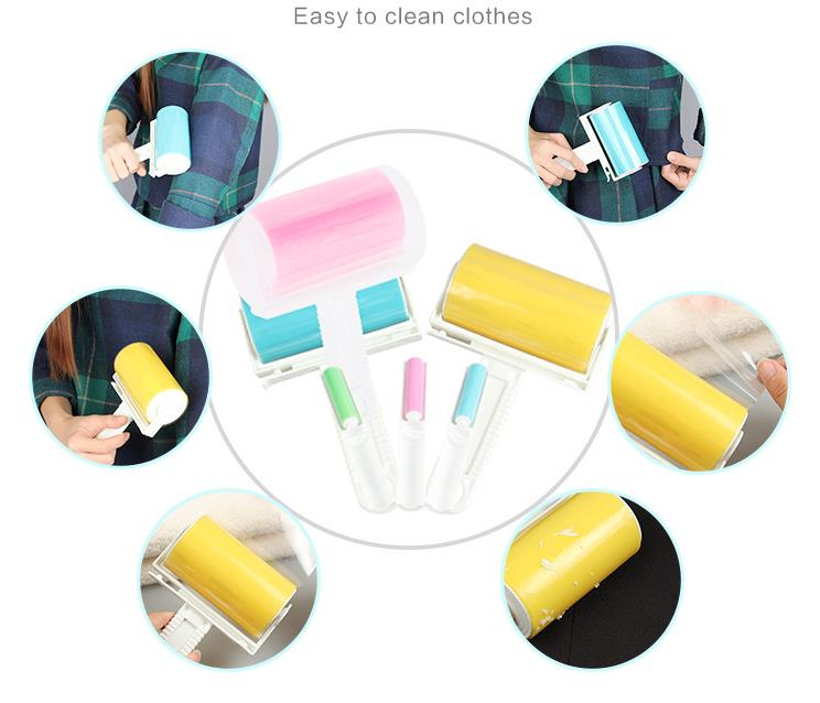 New Design Dust Clothes Tumble Lint Rollers Washable Electrostatic Dust Brush To Brush Clothes Sticky Hair Device For Clothes(China (Mainland))
