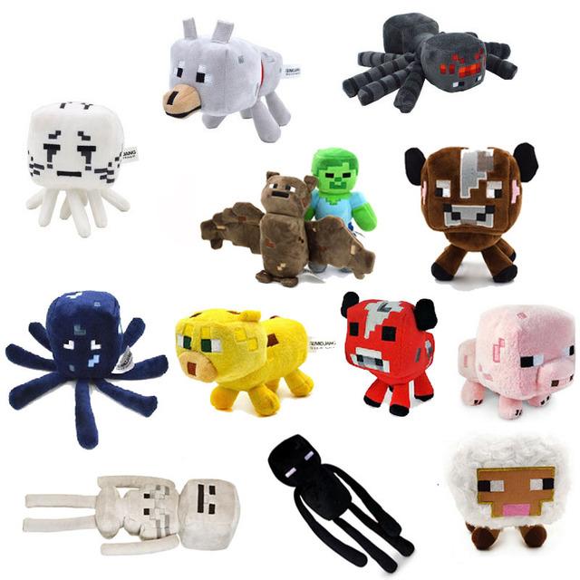 Minecraft Плюшевые Игрушки 13 Стили Мягкая Кукла Животных Дети Игры Мультфильм Игрушки Brinquedos Дети Подарочные Бесплатная Доставка