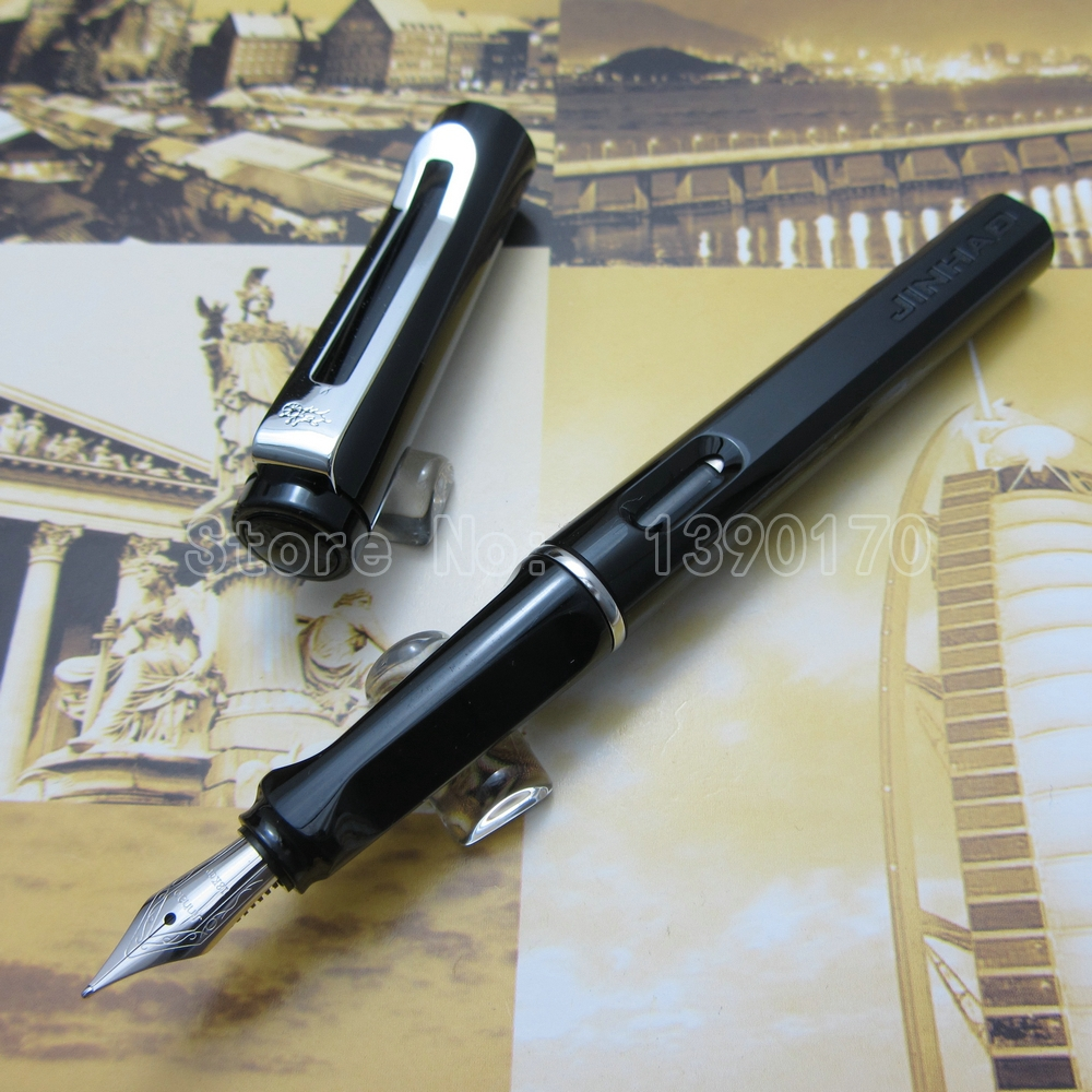 Jinhao office Writing Fountain Pen Black White Red Blue Green Yellow Transparent Orange Blue to choose J3T52<br><br>Aliexpress