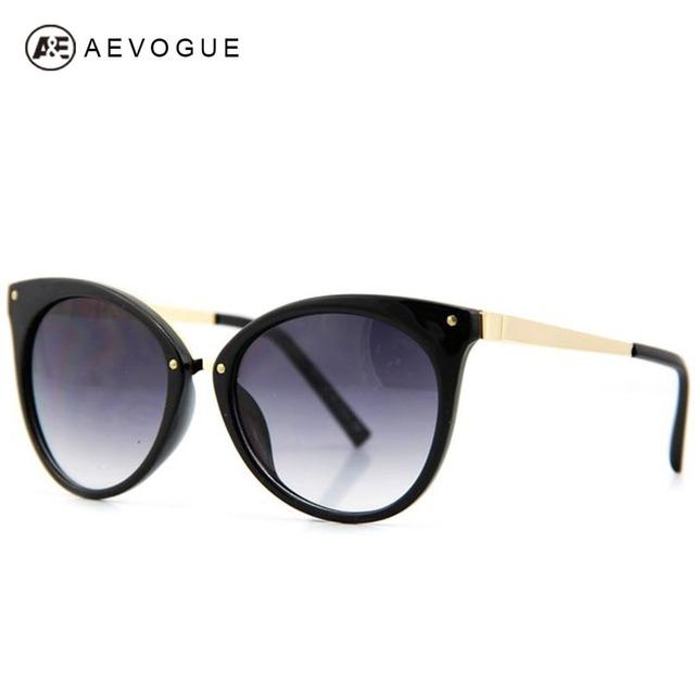Aevogue кошачий глаз дизайна бренда солнцезащитные очки женщины мода зрелищ многоцветные оптические солнцезащитные очки Gafas óculos De Sol UV400 AE0085