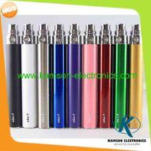 Promotion colorful ego battery 650mah 900mah 1100mah electronic cigarette battery e cigarette battery ego t battery
