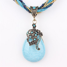 2014 new Exaggerated decorative necklace Green rhinestone pearl pendant Female clavicle short chain xl 648