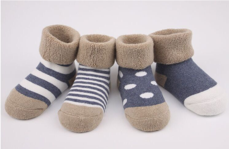 Autumn and winter newborn baby socks thickening 100% cotton male female child socks loop pile towel short socks 0 - 1 - 3 years<br><br>Aliexpress