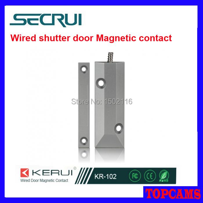 Secrui KR-102 Wired Shutter Door Magnetic Contact use for metal door/ rolling door for alarm system<br><br>Aliexpress