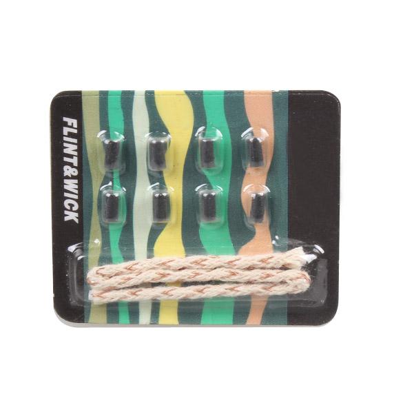 9pcs / pack Flint +Cotton wick Replacement Dispenser Lighters 8Wicks Flintstones Flint Fire Starter Lighter accessories(China (Mainland))