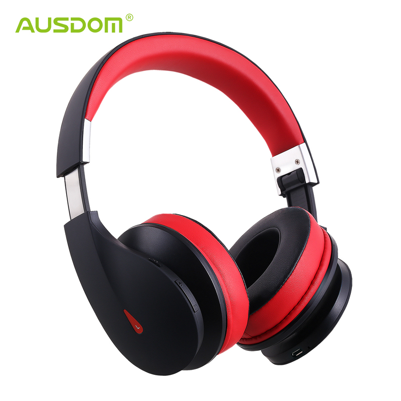 AUSDOM AH2 Bluetooth Headphone High Fidelity Powerful Bass Foldable Handsfree Headset with 3.5mm Audio Cable Wire and Wireless<br><br>Aliexpress