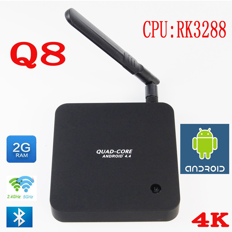 Best price WoYi Q8 Android TV box RK3288 Cortex-A17 Quad Core 1.8Ghz ,2G/8G HDMI Media Player with Antenna 2.4G+5.8G Dual band(China (Mainland))