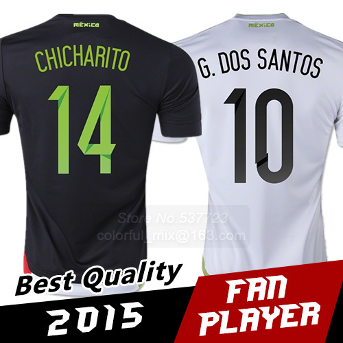 Free Shipping 2015 Mexico Jerseys World Cup Top Thai Quality Mexico Soccer Jerseys Survetement football jerseys futbol uniforms(China (Mainland))