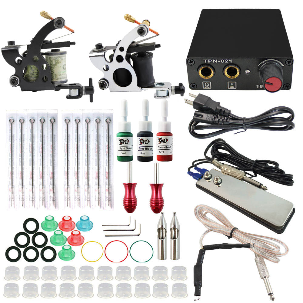 Tk108011 cheap beginner tattoo kits tattoo artiest with 10 for Cheap tattoo ink