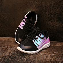 2016 toddler shoes breathable footwear kid children lace-up metallic shining colors sneakers child comfortable insole baby shoe(China (Mainland))