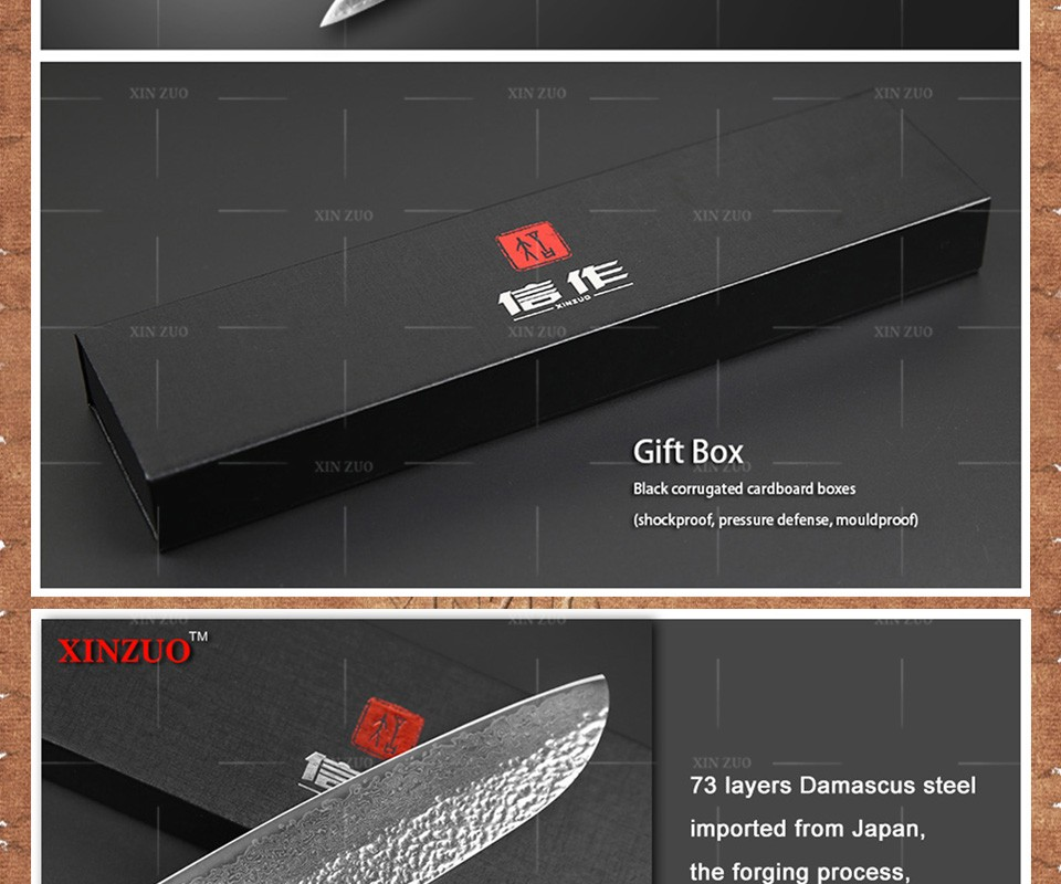 Buy 3 pcs kitchen knives set 73 layers Japanese VG10 Damascus kitchen knife sharp bread cleaver chef knife wood handle free shipping cheap