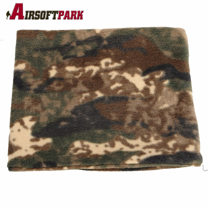 Tactical Outdoor Cycling Hunting Bionic Winter Woodland sniper Camouflage Camp Warm Fleece Scarves Quick Dry Warm Scarf RC-021
