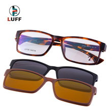 2015 3in1  polarized myopia eyewear /  2 Clip Magnetic eye glasses frame/Outdoor sports  fishing car at night