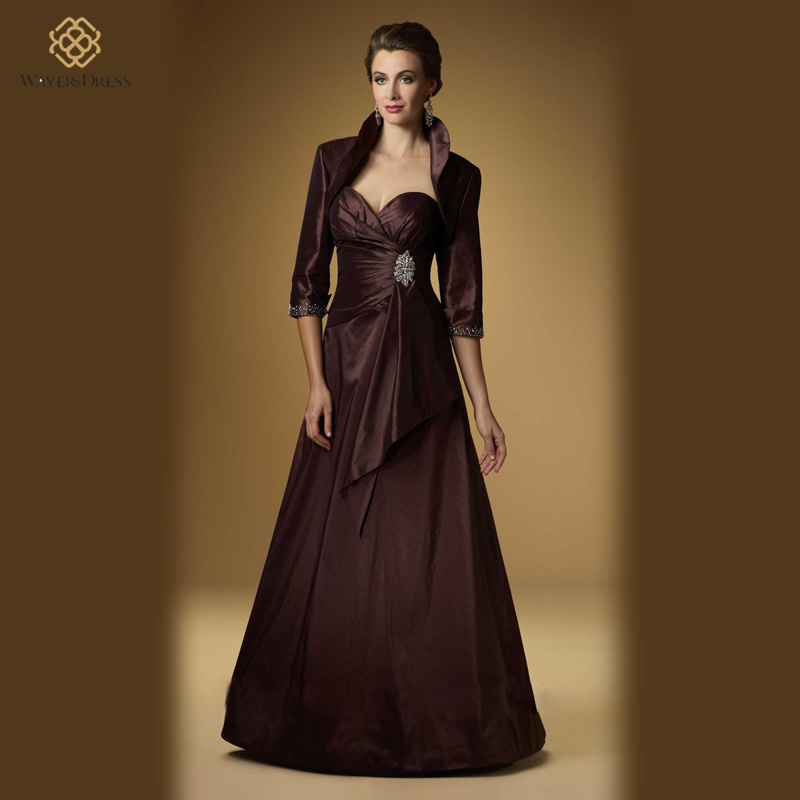 Plus Size Mother Of The Bride Dresses Brown Wedding