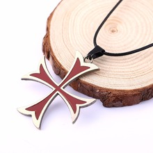 Buy Fashion Assassins Creed 3 Templar Necklace Alloy Shape Pendant Figure Cosplay Jewelry Women Men HC11323 for $1.48 in AliExpress store