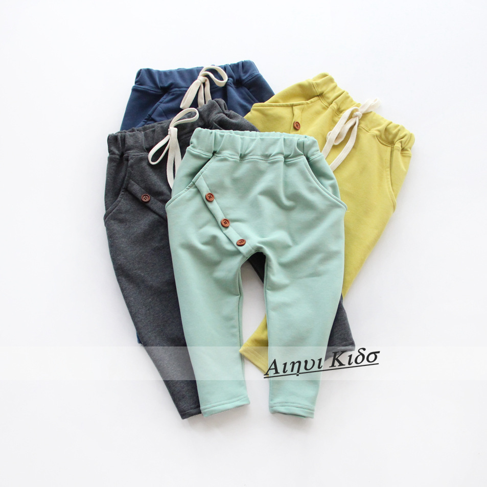 Free shipping new Hot sale 2015 Autumn children girl boys pants boys trousers harem pants kids girls for pants cotton 2-7Y(China (Mainland))