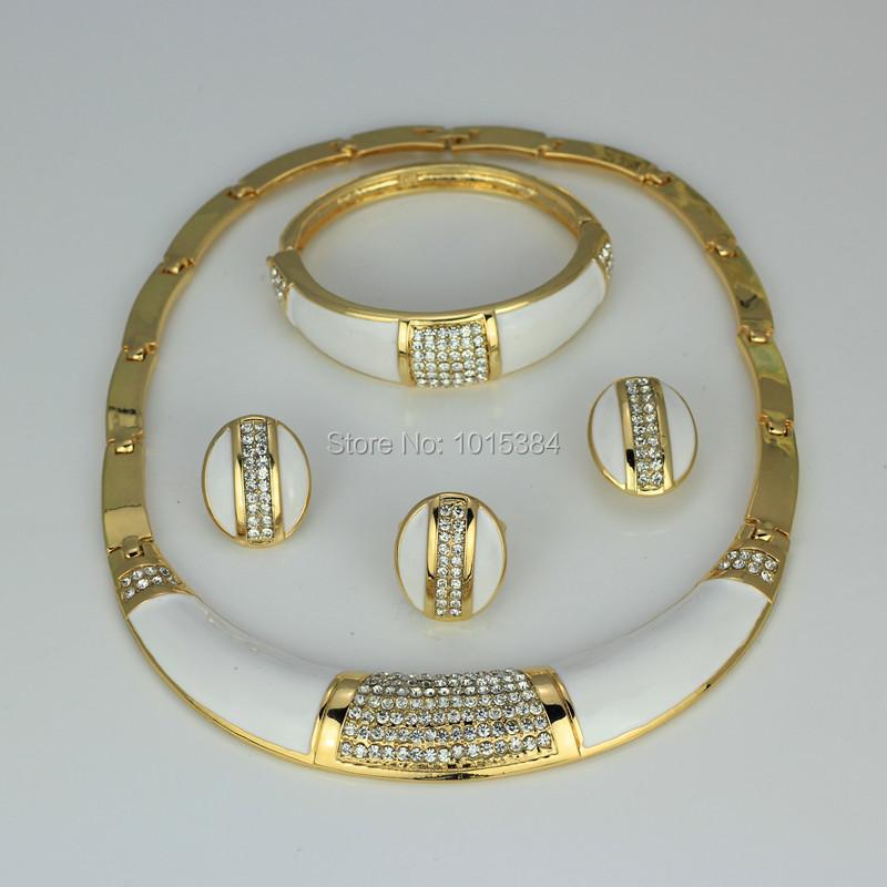 2015 new Italian brand white blue green purple red summer series bridal wedding jewellery earrings necklace jewelry set(China (Mainland))