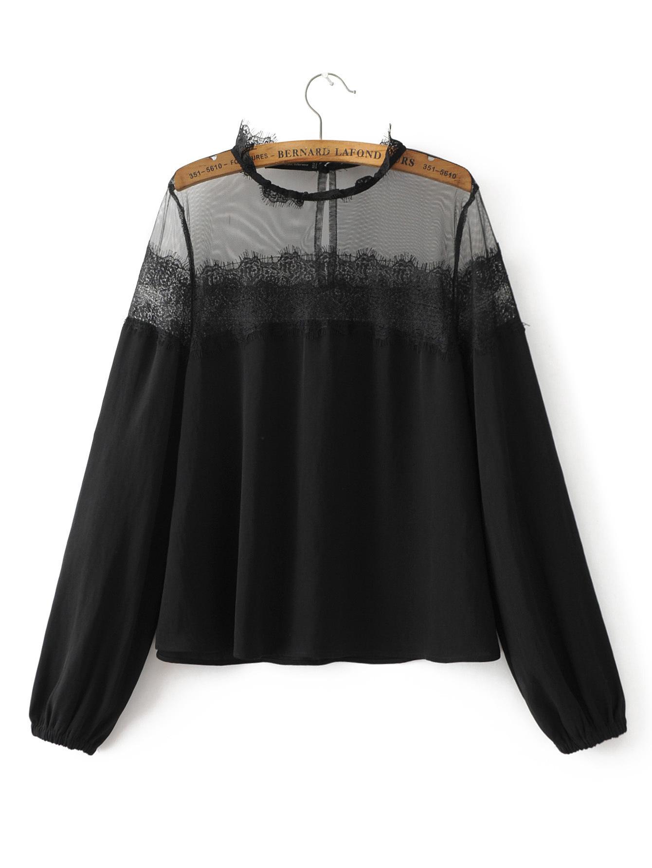 Online Get Cheap Black Transparent Blouse -Aliexpress.com ...