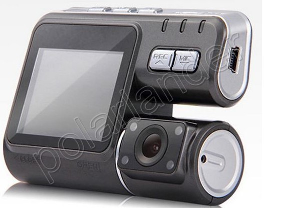 2 inch monitor 120 degree wide angle HD DVR Car Styling Video Recorder Camcorder Car DVR dual lens with rear view camera