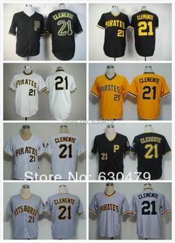 hot sale 2013 new style Pittsburgh Pirates jersey 21 Roberto Clemente various colors Baseball Jerseys, men's baseball jersey