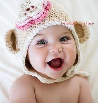 baby knit hat,flower hat,beanies,caps,20pcs/lot mix ,free shipping