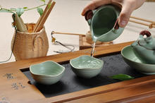7 Pcs Sky Green Chinese Ru Kiln Celadon Ware Gongfu Tea Set Gift Box