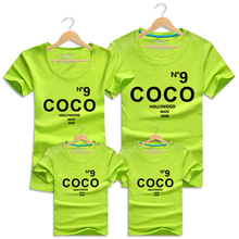 Family Clothing COCO T Shirts Summer Family Clothes Family Matching Outfits Father Mother Daughter Son Cotton Short Sleeve Shirt