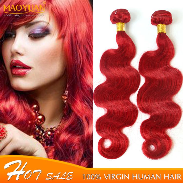 Wonderful 7A 3pcs Red Hair Body Wave Brazilian Hair Bundles Double Weft Human Braiding Hair No Knot No Tangle No split 10-26(China (Mainland))