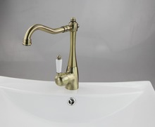 69% OFF Construction & Real Estate Ceramic Handle Antique Brass Bathroom & Kitchen Basin Sink Vessel Swivel Mixer Tap Mixer