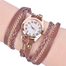 Lackingone Crazy Digital Watch Hot Buy Korean Fashion New Dress Retro watch women Casual Knit Long