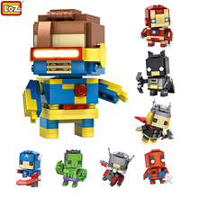 LOZ Marvel игрушки Super Hero Мстители Халк Блоки Фигурки Игрушки Блоки Buildingblock Циклоп Муравей Паук человек X-мужчины Модели
