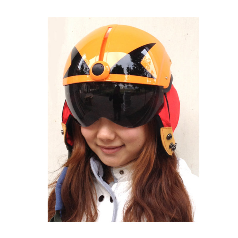 MASEI ORANGE SKULL AIR JET Helmet Pilots Flying Helmets Motorcycle Half Helmet Electric Bicycle Open Face Pilot Helmet Free<br><br>Aliexpress
