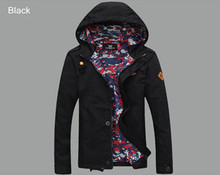 Men's Jacket 2016 Spring New Arrival Men Jacket With Hood Fashion Jacket Casual Spring & Autumn Jacket 5 Colors MWJ806(China (Mainland))