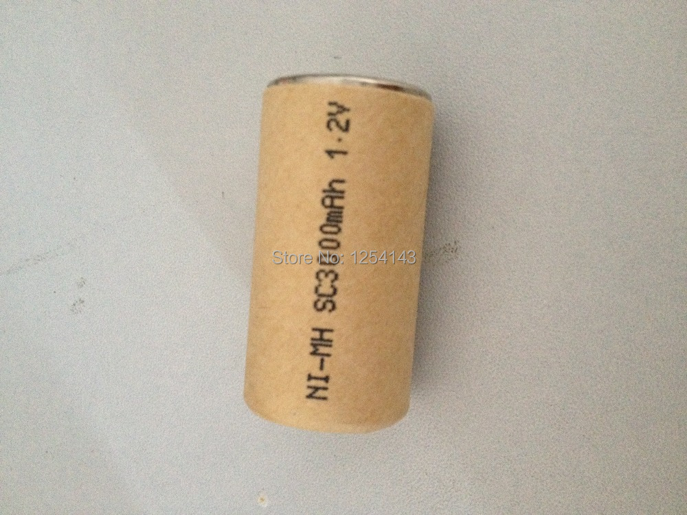 3000mAh 20Pcs,high power battery cell,power tool battery,Power Cell,Ni Mh,dicharge rate 10C.rechargeable battery,battery cell(China (Mainland))