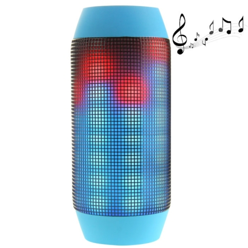 Hot sale Wireless Speaker! Pulse Portable Bluetooth Streaming Mini Speaker with Built-in LED Light Show & Mic Blue Free shipping